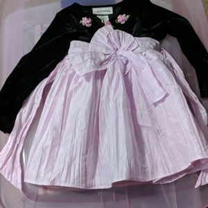 Formal dress 18 months girls black and pale pink